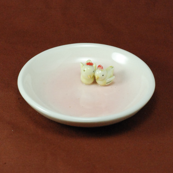 Small Plate ~ Pink ~ Birds