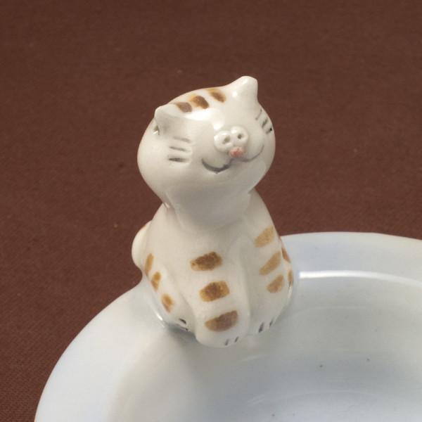 Tea Light Candle Holder ~ Blue ~ Cat