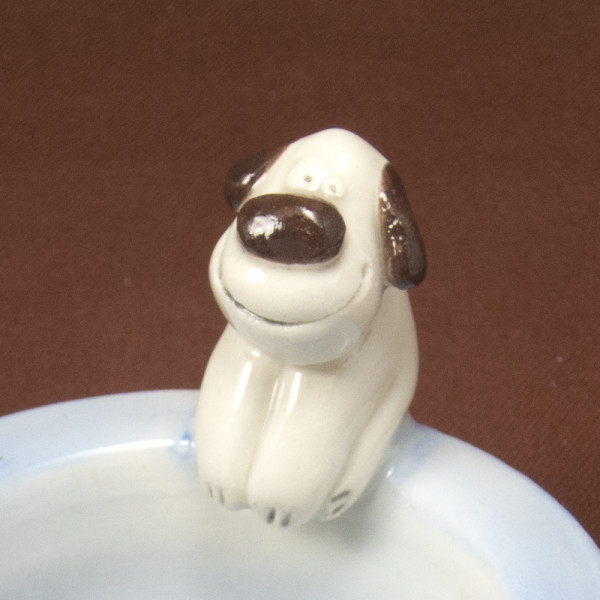 Tea Light Candle Holder ~ Blue ~ Dog