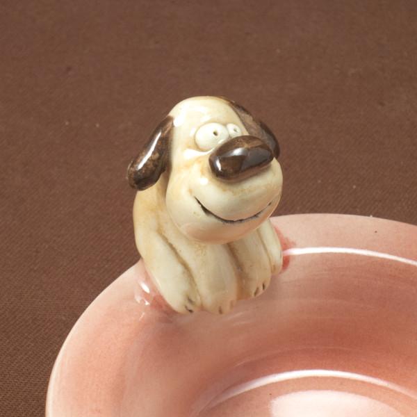 Tea Light Candle Holder ~ Pink ~ Dog