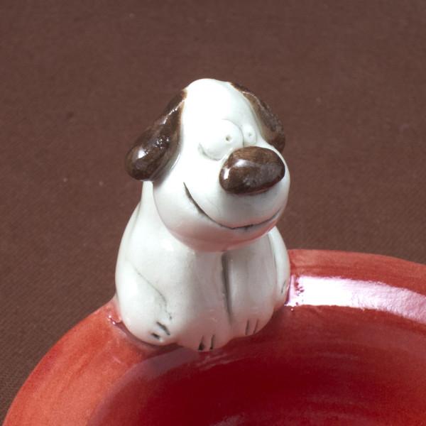 Tea Light Candle Holder ~ Red ~ Dog