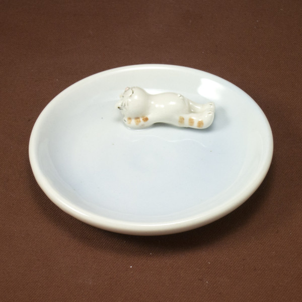 Small Plate ~ Blue ~ Cat