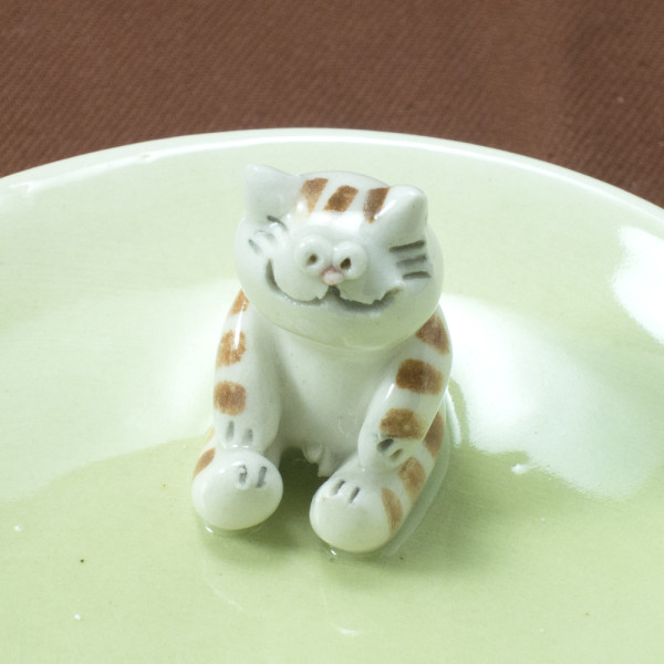 Small Plate ~ Green ~ Cat