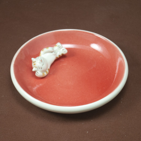 Small Plate ~ Red ~ Cat