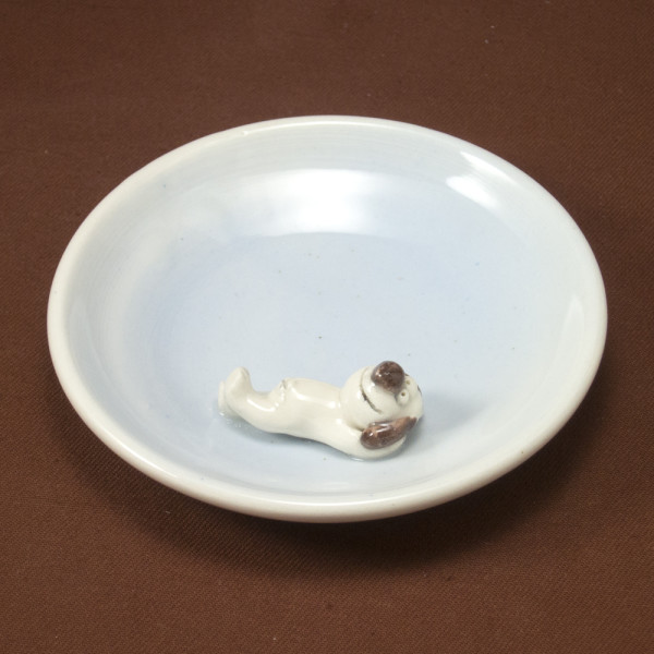 Small Plate ~ Blue ~ Dog