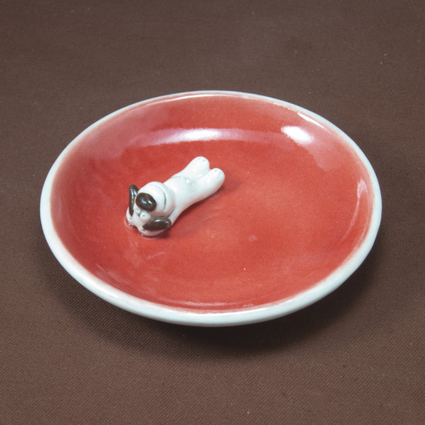 Small Plate ~ Red ~ Dog